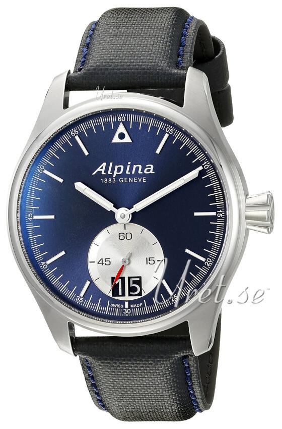 Alpina Startimer Herrklocka AL-280NS4S6 Blå/Läder Ø44 mm - Alpina