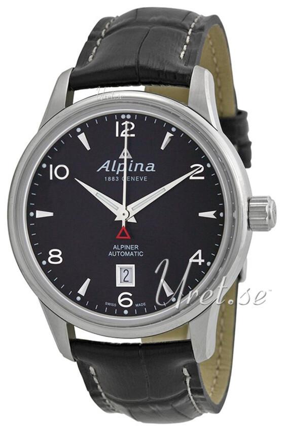 Alpina Alpiner Herrklocka AL-525B4E6 Svart/Läder Ø41.5 mm - Alpina