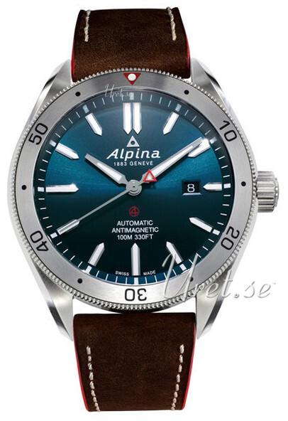 Alpina Alpiner Herrklocka AL-525NS5AQ6 Blå/Läder Ø44 mm - Alpina