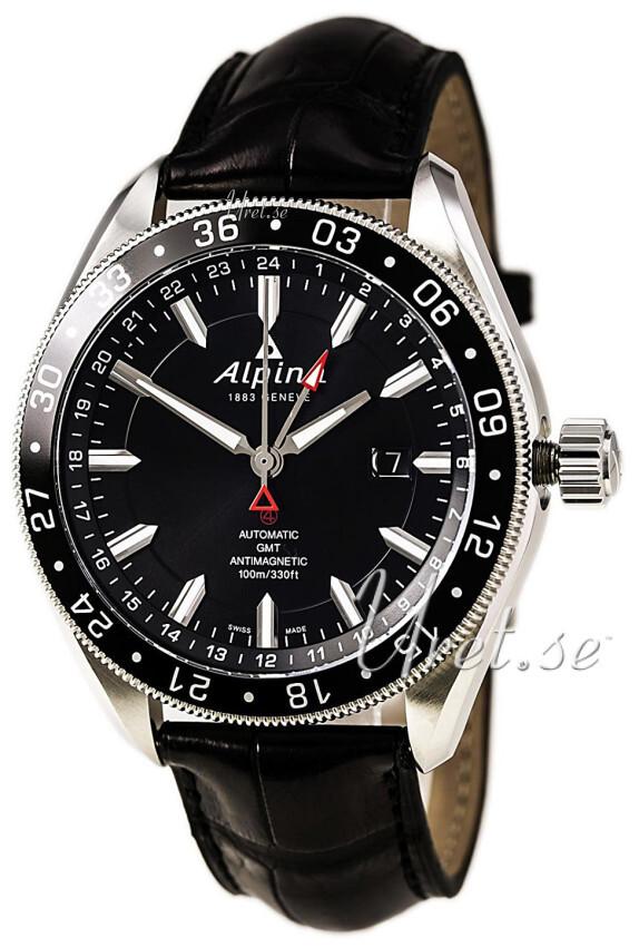 Alpina Alpiner Herrklocka AL-550G5AQ6 Svart/Läder Ø44 mm - Alpina