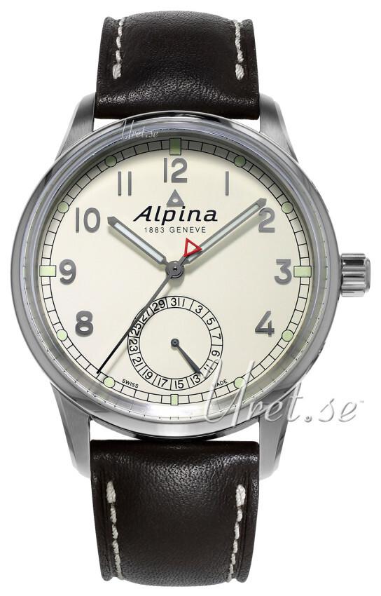 Alpina Alpiner Herrklocka AL-710KM4E6 Antikvit/Läder Ø41.5 mm - Alpina