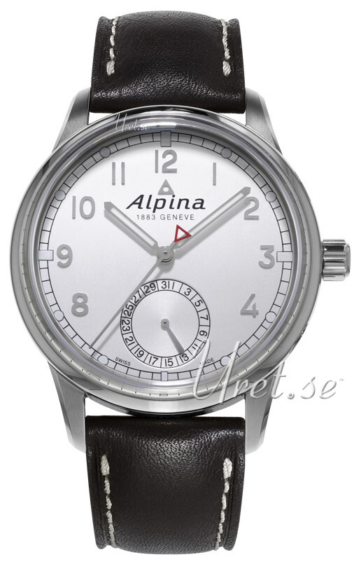 Alpina Alpiner Herrklocka AL-710S4E6 Silverfärgad/Läder Ø41.5 mm - Alpina