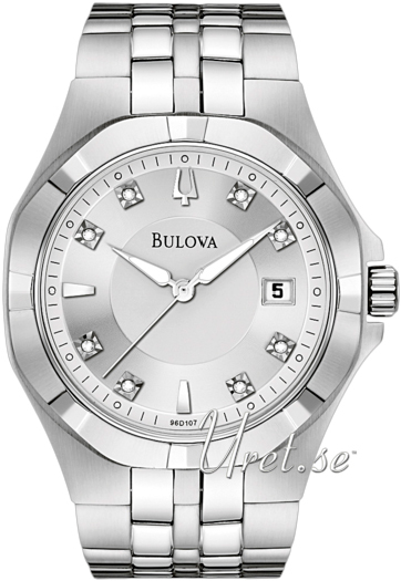 Bulova Diamond Herrklocka 96D107 Silverfärgad/Stål Ø37 mm - Bulova