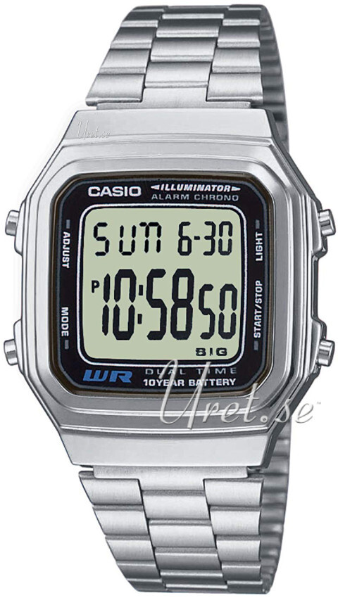 Casio Casio Collection Herrklocka A178WEA-1AES Stål 41.2x34 mm - Casio
