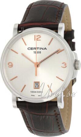 Certina DS Caimano Gent Herrklocka C017.410.16.037.01 Silverfärgad/Läder - Certina
