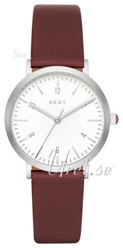 DKNY Dress Damklocka NY2508 Vit/Läder Ø36 mm - DKNY