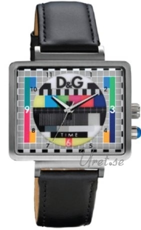 Dolce & Gabbana D&G DW0514 TV Test Card Dial Flerfärgad/Läder - Dolce & Gabbana D&G