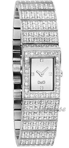 Dolce & Gabbana D&G Damklocka DW0328 Silverfärgad/Stål 19x13 mm - Dolce & Gabbana D&G