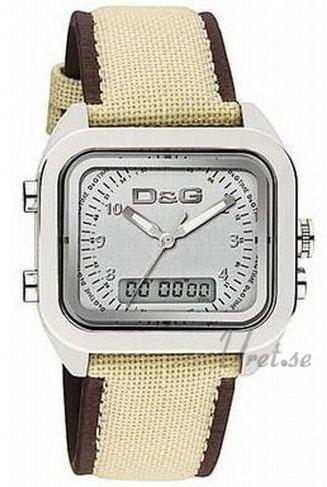 Dolce & Gabbana D&G Herrklocka DW0298 Silverfärgad/Textil 31x26 mm - Dolce & Gabbana D&G