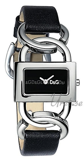 Dolce & Gabbana D&G Damklocka DW0562 Svart/Läder 30x18 mm - Dolce & Gabbana D&G