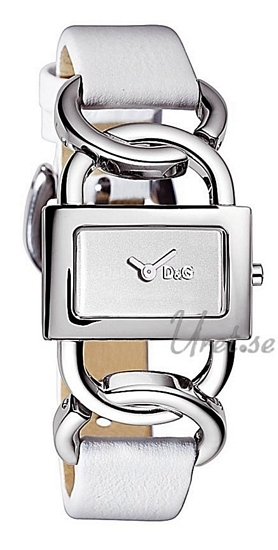 Dolce & Gabbana D&G Damklocka DW0563 Vit/Läder 28x15 mm - Dolce & Gabbana D&G