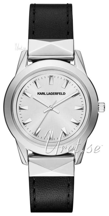 Karl Lagerfeld Labelle Stud Damklocka KL3805 Silverfärgad/Stål Ø36 mm - Karl Lagerfeld