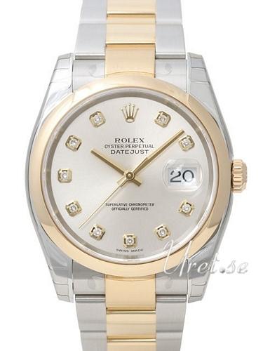 Rolex Datejust Gold/Steel Herrklocka 116203-0138 Silverfärgad/18 karat - Rolex