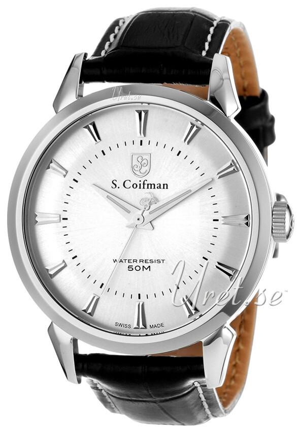 S.Coifman Dress Herrklocka SC0281 Silverfärgad/Läder Ø45 mm - S.Coifman