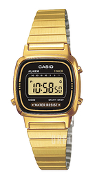 Casio Casio Collection Gulguldtonat stål 30.3x24.6 mm LA670WEGA-1EF