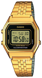 Casio Casio Collection LCD/Gulguldtonat stål 33.5x28.6 mm LA680WEGA-1ER
