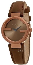 f70ebe08b28 Gucci Interlocking Brun Läder Ø29 mm YA133504