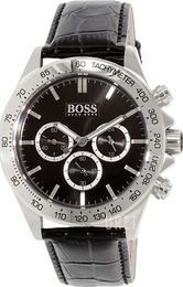 Hugo Boss Ikon Svart/Läder Ø44 mm 1513178