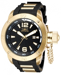 Invicta Force Svart/Gulguldtonat stål Ø51.5 mm 12964