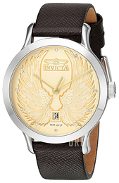 Invicta Angel Champagnefärgad/Läder Ø38 mm 23184