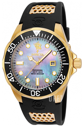 Invicta Sea Vit/Gulguldtonat stål Ø47 mm 23878