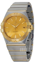 Omega Constellation Quartz 35mm Gulguldstonad/18 karat gult guld Ø35 mm 123.20.35.60.08.001