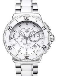 TAG Heuer Formula 1 Steel And Ceramic Chronograph Diamonds Vit/Keramik Ø41 mm CAH1213.BA0863