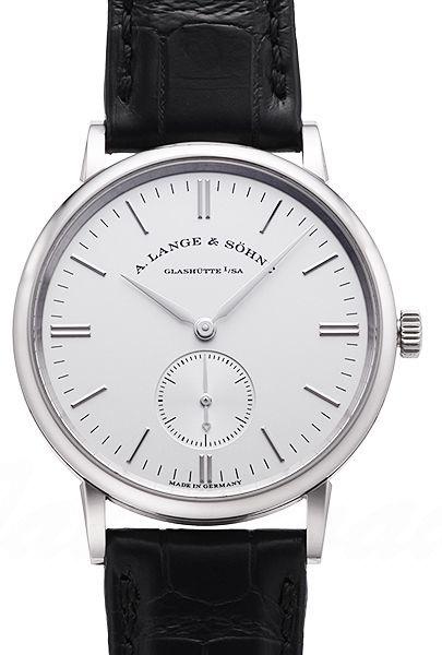 A. Lange & Söhne Saxonia 219.026 Silverfärgad/Läder Ø35 mm - A. Lange & Söhne