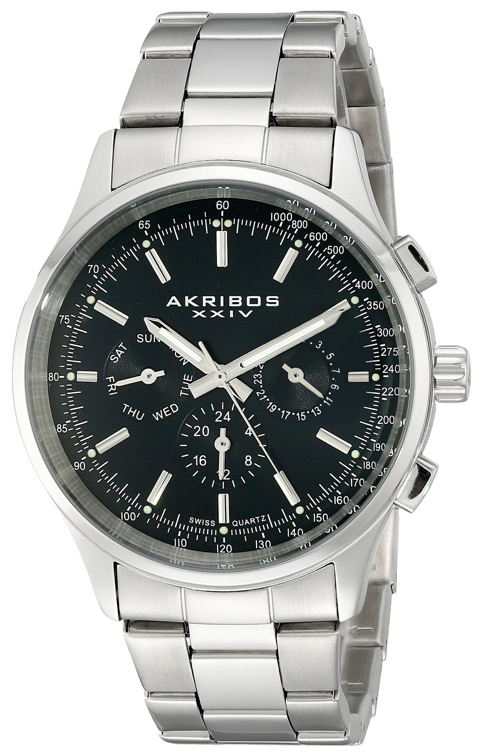 Akribos XXIV 99999 Herrklocka AK788SSB Svart/Stål Ø43 mm - Akribos XXIV