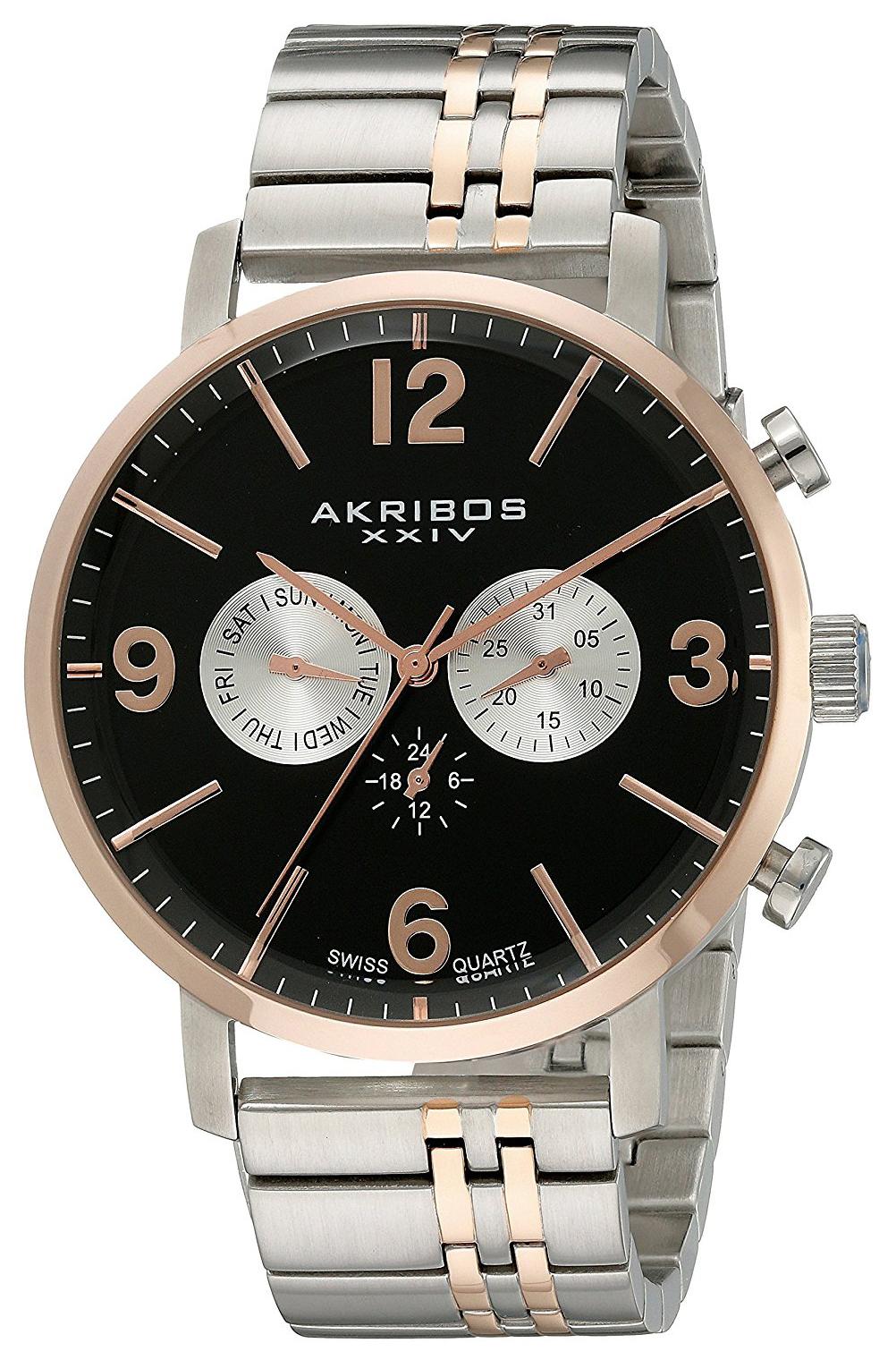 Akribos XXIV Multi-Function Herrklocka AK782TTR Svart/Roséguldstonat - Akribos XXIV