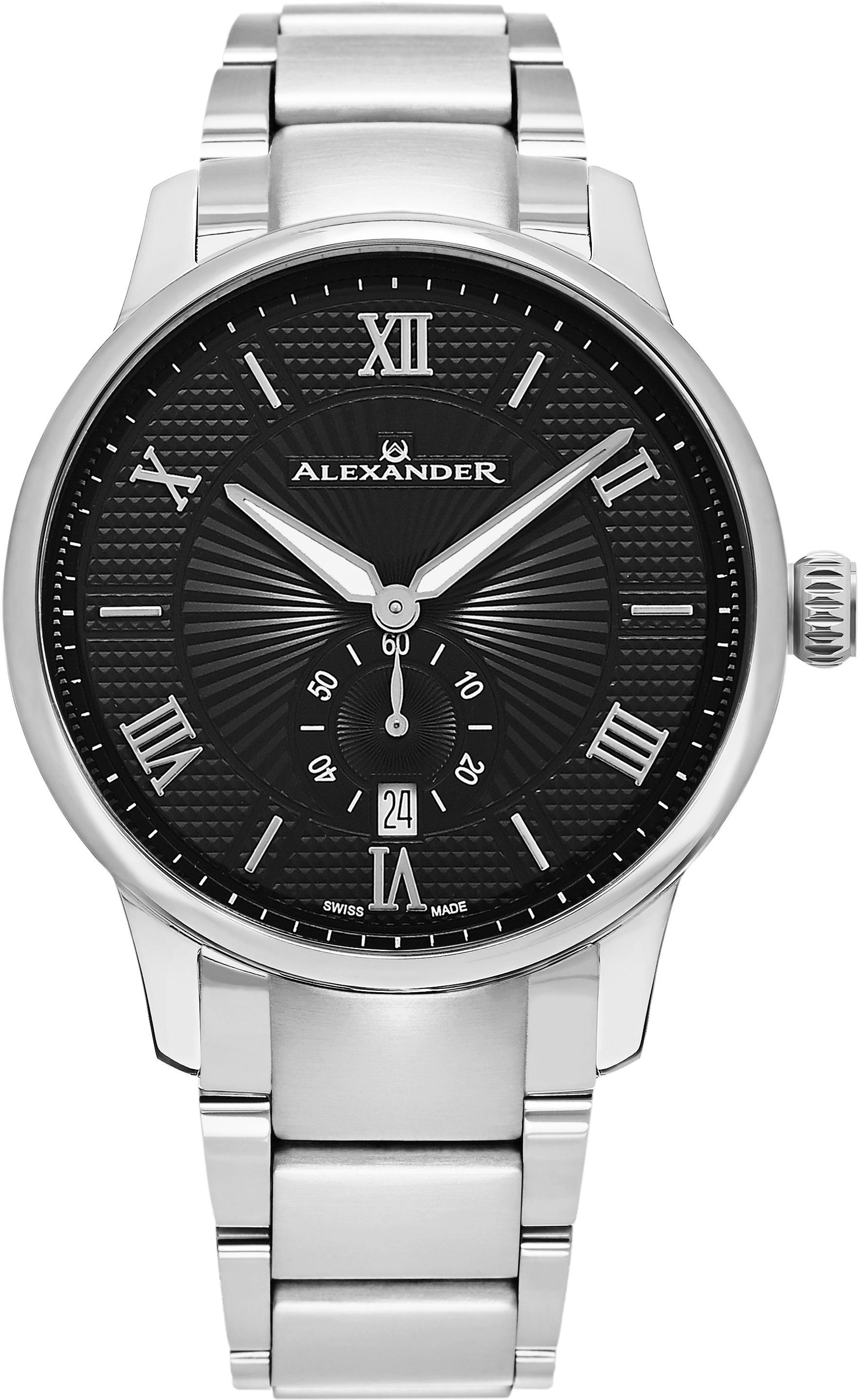 Alexander Statesman Herrklocka A102B-02 Svart/Stål Ø42 mm - Alexander