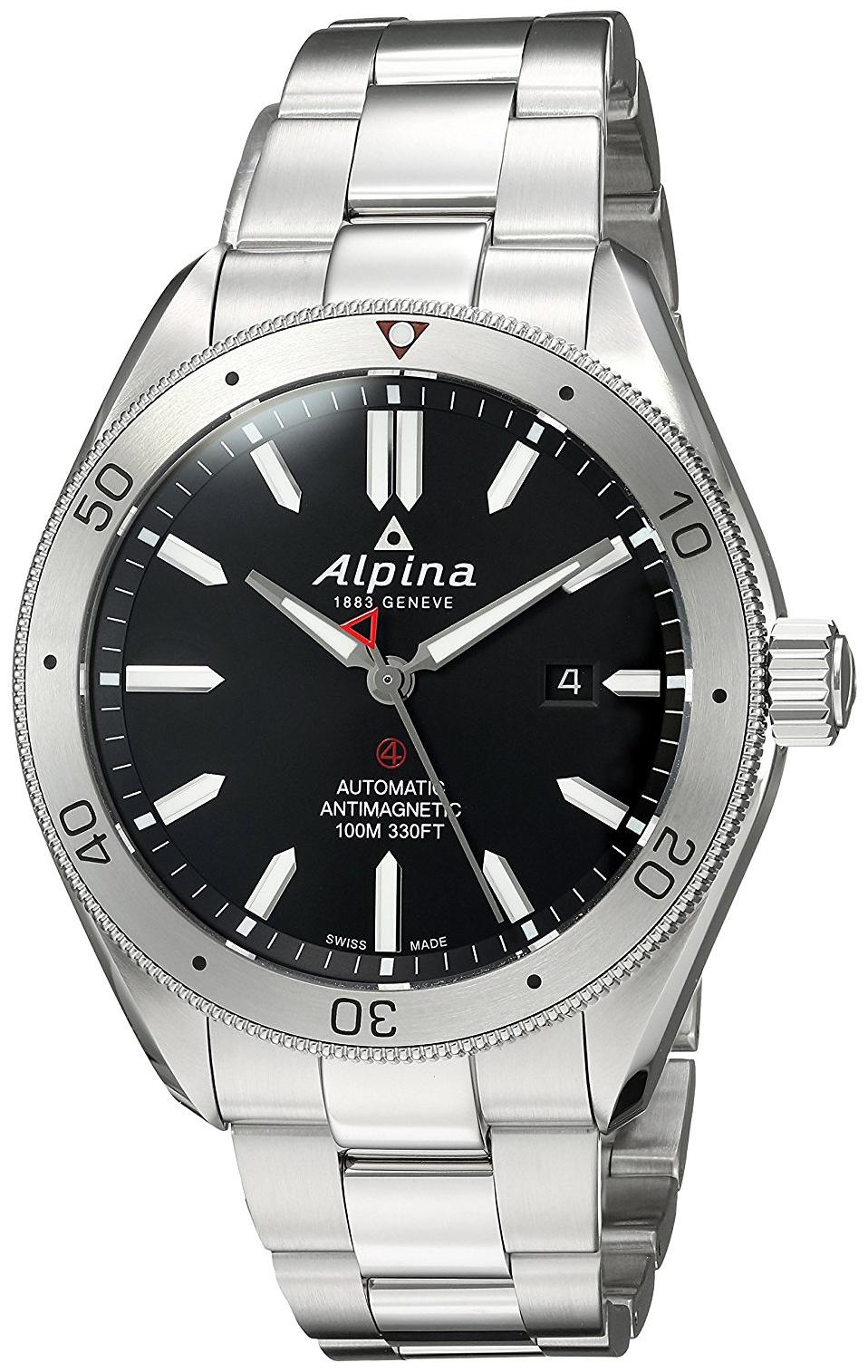 Alpina Alpiner Herrklocka AL-525BS5AQ6B Svart/Stål Ø44 mm - Alpina
