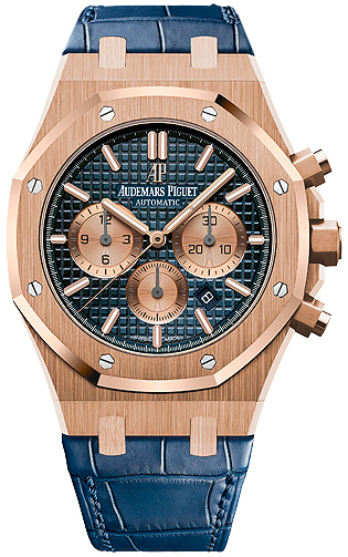 Audemars Piguet Royal Oak Herrklocka 26331OR.OO.D315CR.01 Blå/Läder Ø41 - Audemars Piguet