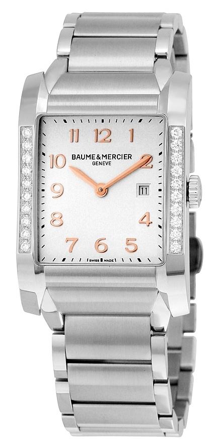 Baume & Mercier Hampton Damklocka MOA10023 Silverfärgad/Stål 40x27.1 - Baume & Mercier