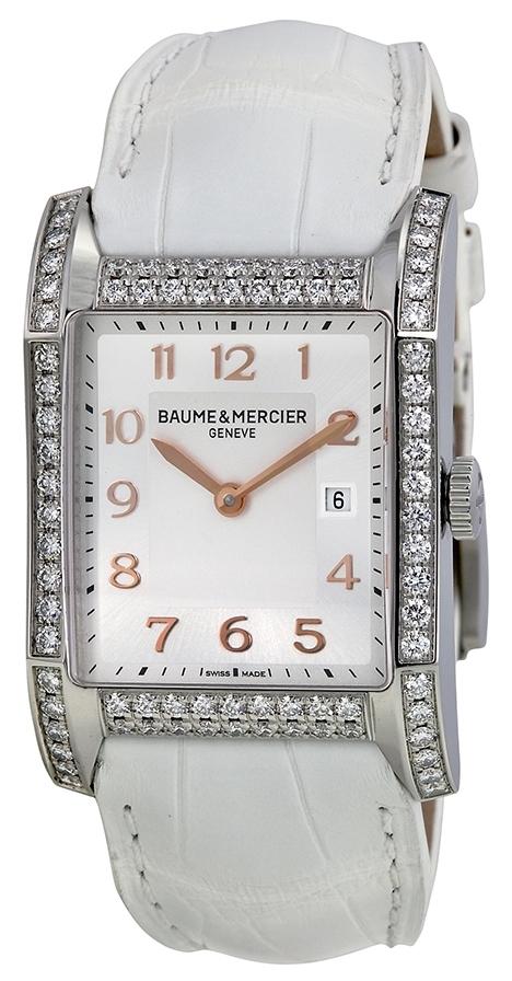 Baume & Mercier Hampton Damklocka MOA10025 Silverfärgad/Läder - Baume & Mercier