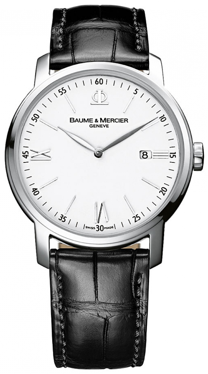Baume & Mercier Classima Herrklocka M0A10379 Silverfärgad/Läder Ø42 - Baume & Mercier