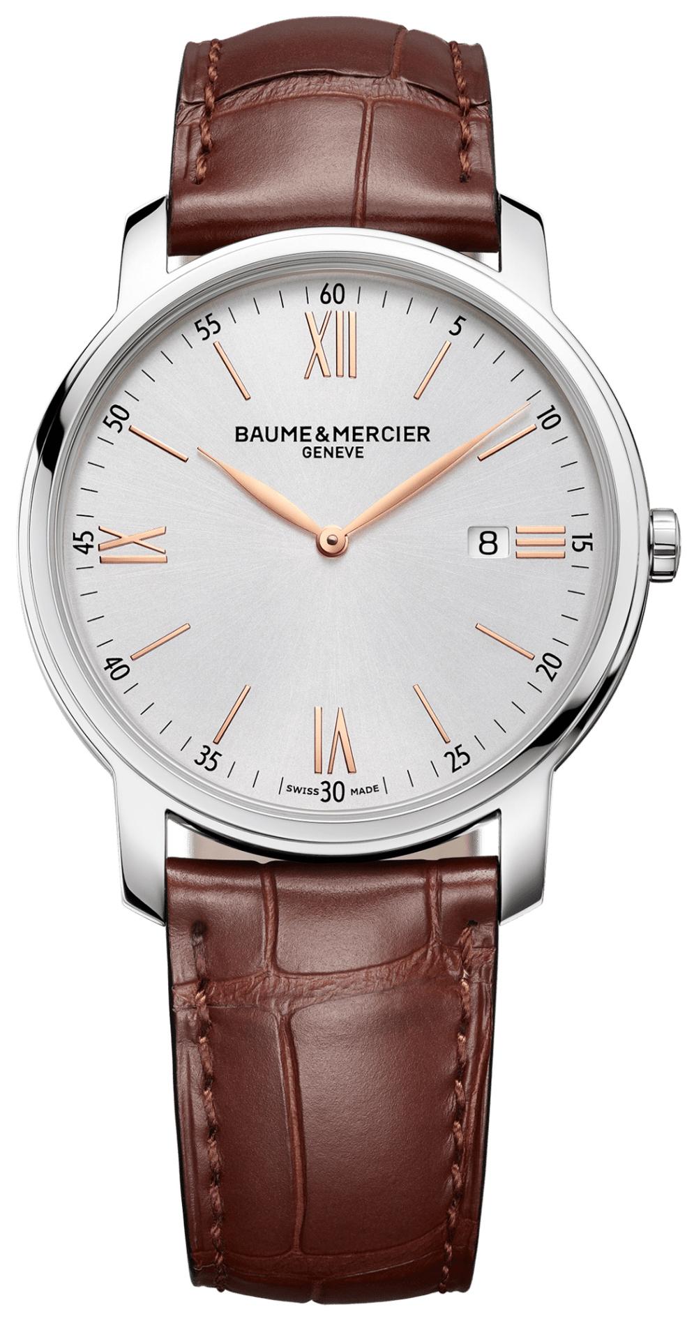 Baume & Mercier Classima Herrklocka M0A10380 Silverfärgad/Läder Ø42 - Baume & Mercier
