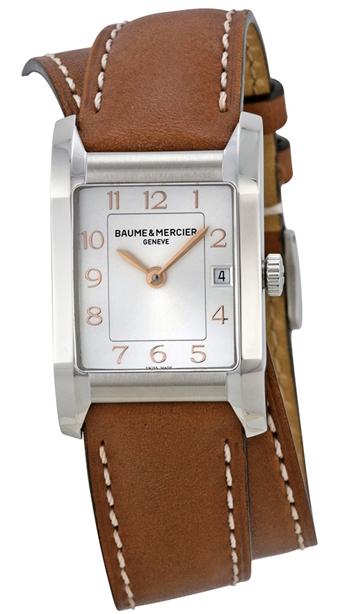 Baume & Mercier HAMPTON Damklocka MOA10110 Silverfärgad/Läder - Baume & Mercier