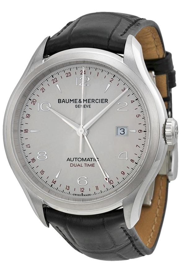 Baume & Mercier CLIFTON Herrklocka MOA10112 Silverfärgad/Läder Ø43 - Baume & Mercier