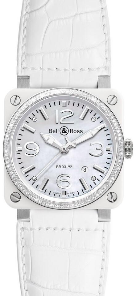 Bell & Ross BR 03-92 Herrklocka BR0392-WH-C-D-SCA Läder Ø42 mm - Bell & Ross