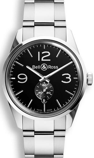 Bell & Ross BR 123 Herrklocka BRG123-BL-ST-SST Svart/Stål Ø41 mm - Bell & Ross
