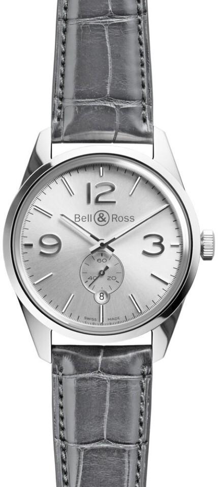 Bell & Ross BR 123 Herrklocka BRG123-WH-ST-SCR Silverfärgad/Läder - Bell & Ross
