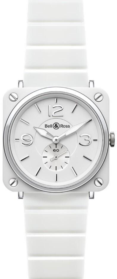 Bell & Ross BR S Quartz Herrklocka BRS-WH-CERAMIC-SCE Vit/Keramik Ø39 - Bell & Ross