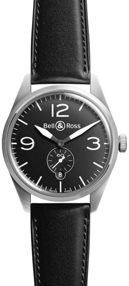 Bell & Ross BR 123 Herrklocka BRV123-BL-ST-SCA Svart/Läder Ø41 mm - Bell & Ross