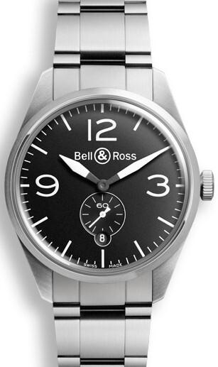 Bell & Ross BR 123 Herrklocka BRV123-BL-ST-SST Svart/Stål Ø41 mm - Bell & Ross