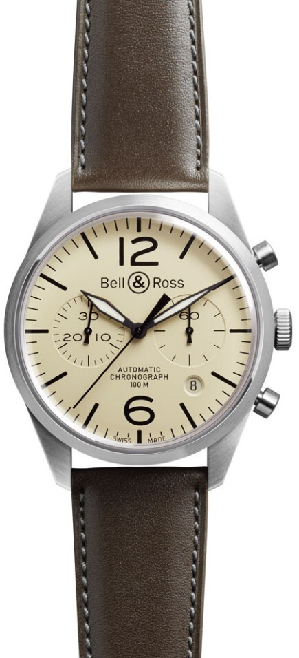 Bell & Ross BR 126 Herrklocka BRV126-BEI-ST-SCA Brun/Läder Ø41 mm - Bell & Ross