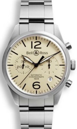 Bell & Ross BR 126 Herrklocka BRV126-BEI-ST-SST Brun/Stål Ø41 mm - Bell & Ross