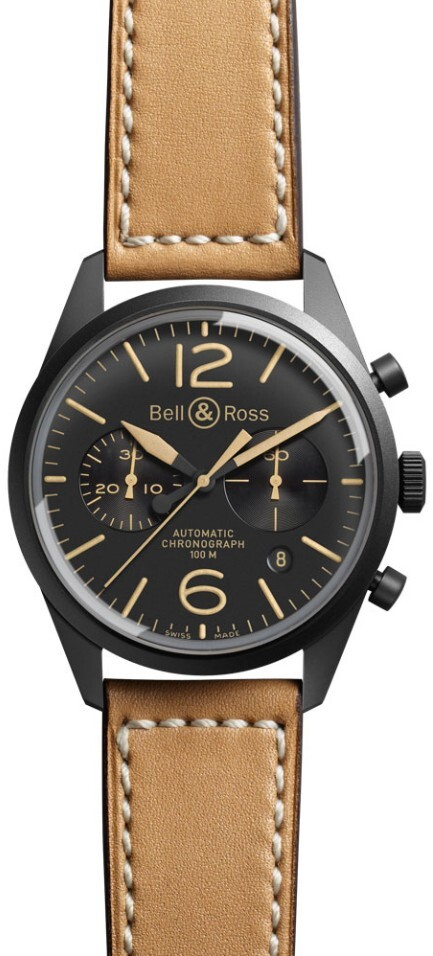 Bell & Ross BR 126 Herrklocka BRV126-HERITAGE Svart/Läder Ø41 mm - Bell & Ross