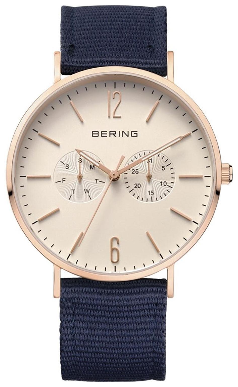 Bering Classic Herrklocka 14240-564 Antikvit/Textil Ø40 mm - Bering