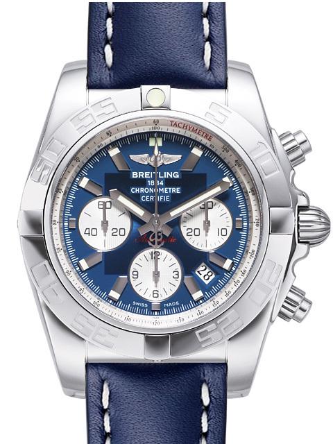 Breitling Chronomat 44 Herrklocka AB011012-C788-105X-A20BA.1 Blå/Läder - Breitling